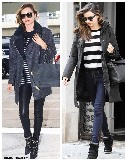How to wear a striped sweater; How to wear leather pants; How to wear the oversized coat trend