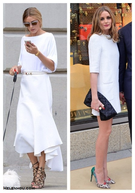 how to wear white dresses; celebrity street style, spring/summer outfit ideas 2014; Wear white after labor day.