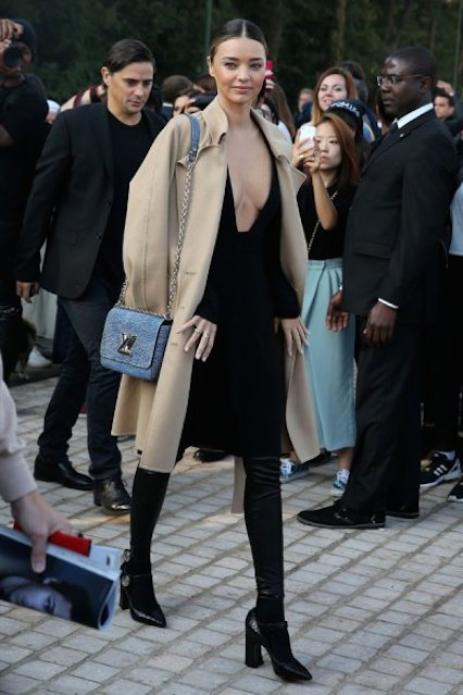 miranda-kerr-at the Louis Vuitton Show at Paris Fashion Week