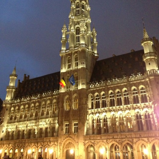 Brussels Town Hall by Night