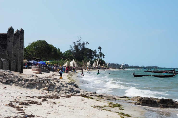 The fish market on Bagamoyo Beach. Kenya and Tanzania Itinerary.