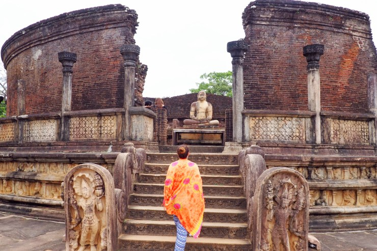 Buddhist shrine in Polonnaruwa in Sri Lanka's Cultural Triangle