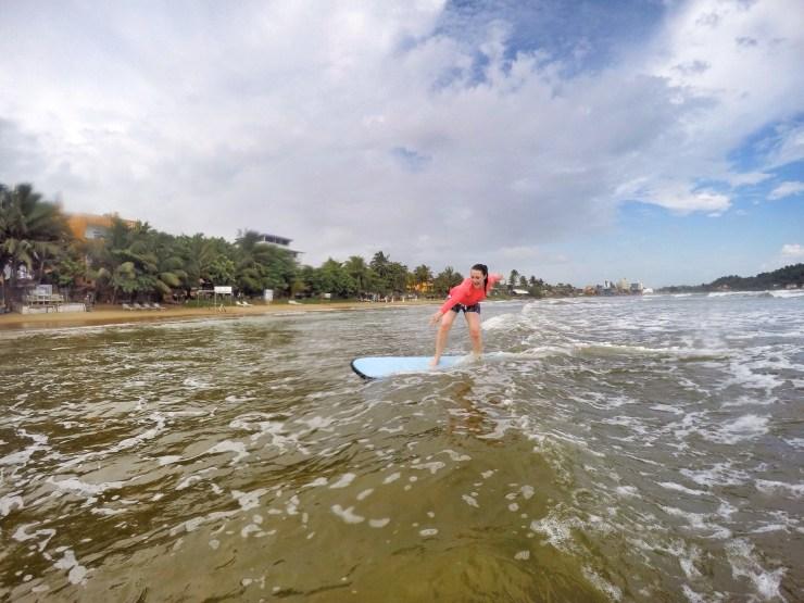 Surfing in Galle, Sri Lanka