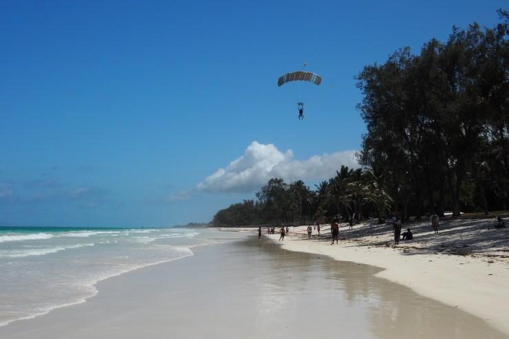 Skydiving Diani Beach Kenya