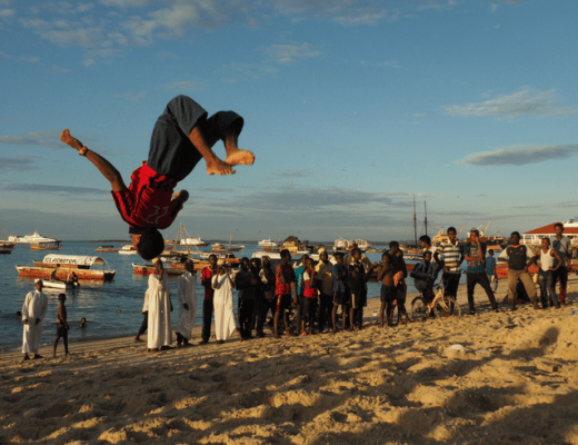Acrobatics on the Beach Stone Town - 40 Incredible Things To Do in Zanzibar