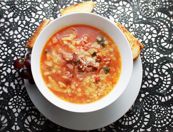 Minestrone Soup is good for your ass and ass.
