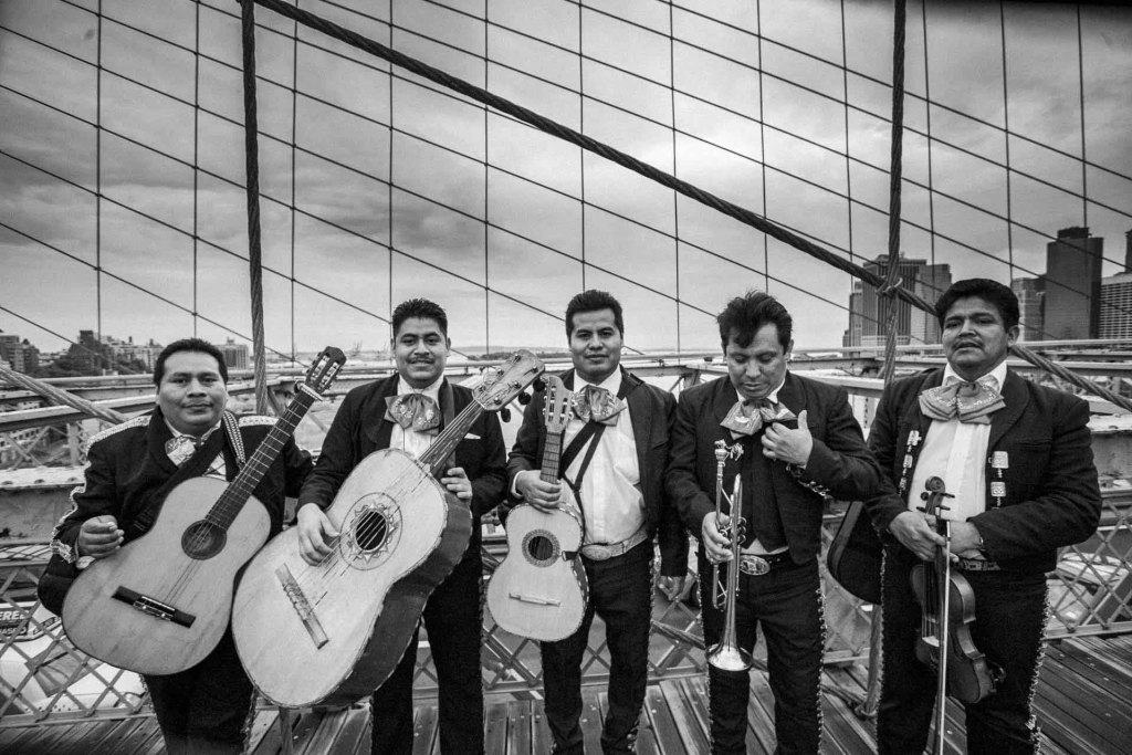 Ken Shung - Mariachi, Brooklyn Bridge - Black and White Collection