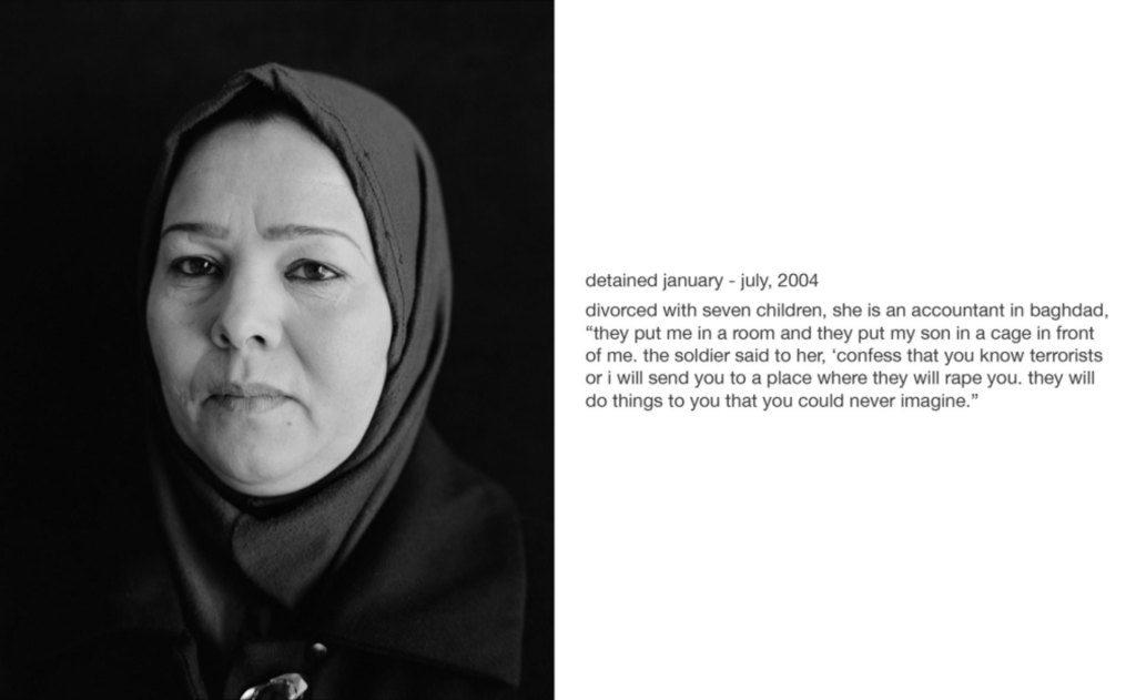 Chris Bartlett photography - Image portrait of a Iraqi woman, wearing a hijab, formally detained at Guantanamo Bay