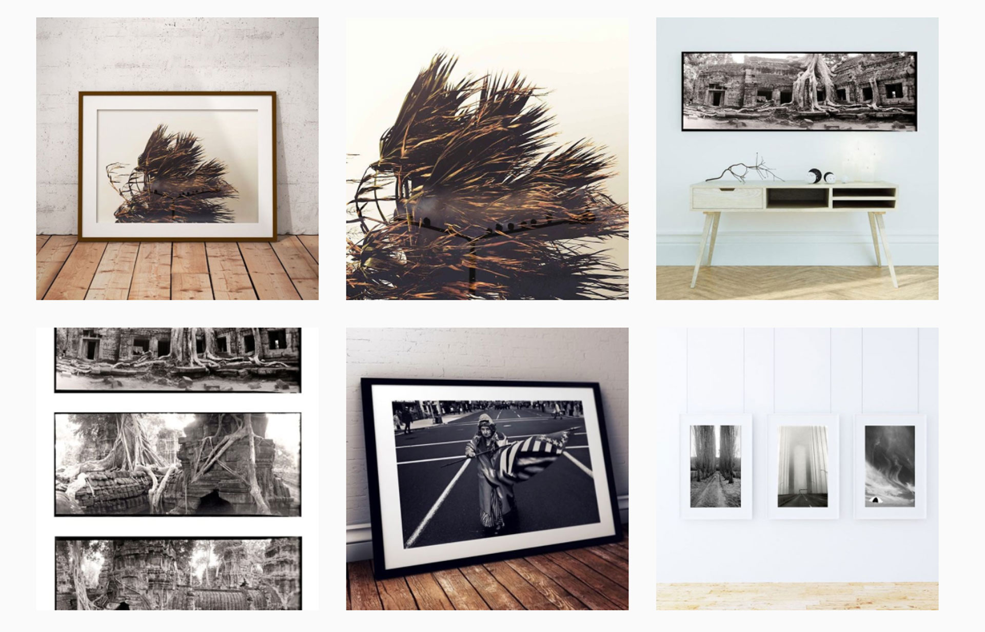 Instagram - HJF Gallery montage of photographers prints