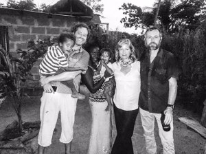 Simon, Khady (with Gulliver and Alfie), Helen, and Jason Florio - Little Baobab, Abené, Casamance, Senegal, Nov 2016