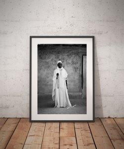 Black and white print of a holy man, the Imam, The Gambia, W. Africa, 'The Imam (Koranic Scholar)' © Jason Florio