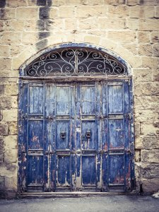 disappearingMalta - Blue Doors, vintage storefront, Birkirkara, Malta ©Helen Jones-Florio photography prints