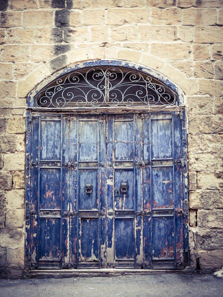 disappearingMalta - Blue Doors, vintage storefront, Birkirkara, Malta ©Helen Jones-Florio photography prints