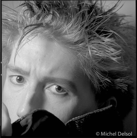 #PhotographersWeLove - Richard Butler of the Psychedelic Furs black and white portrait ©Michel Delsol
