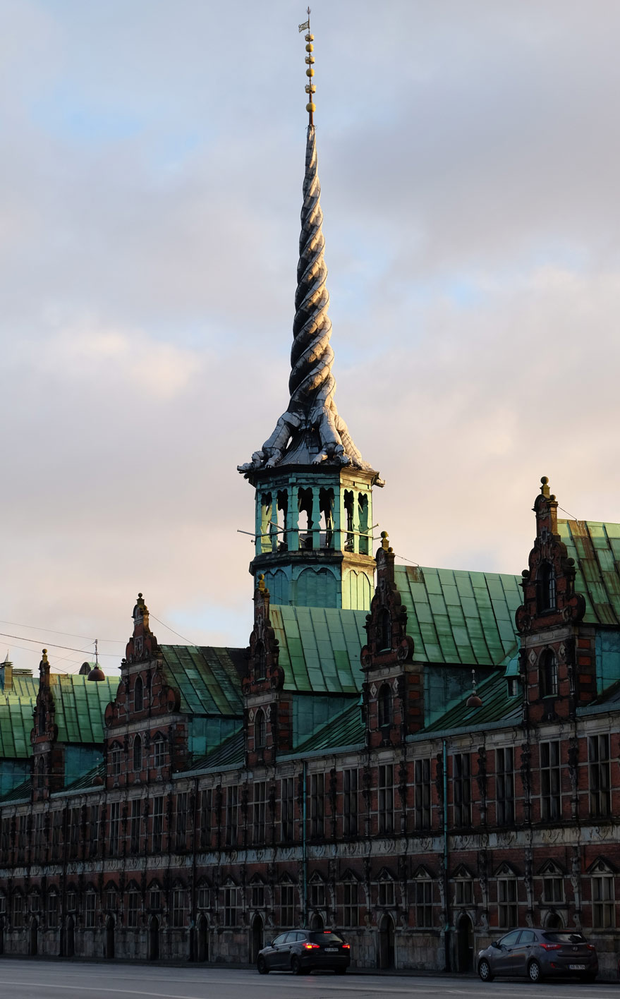 The spire at Børsen takes the form of four dragons' tails