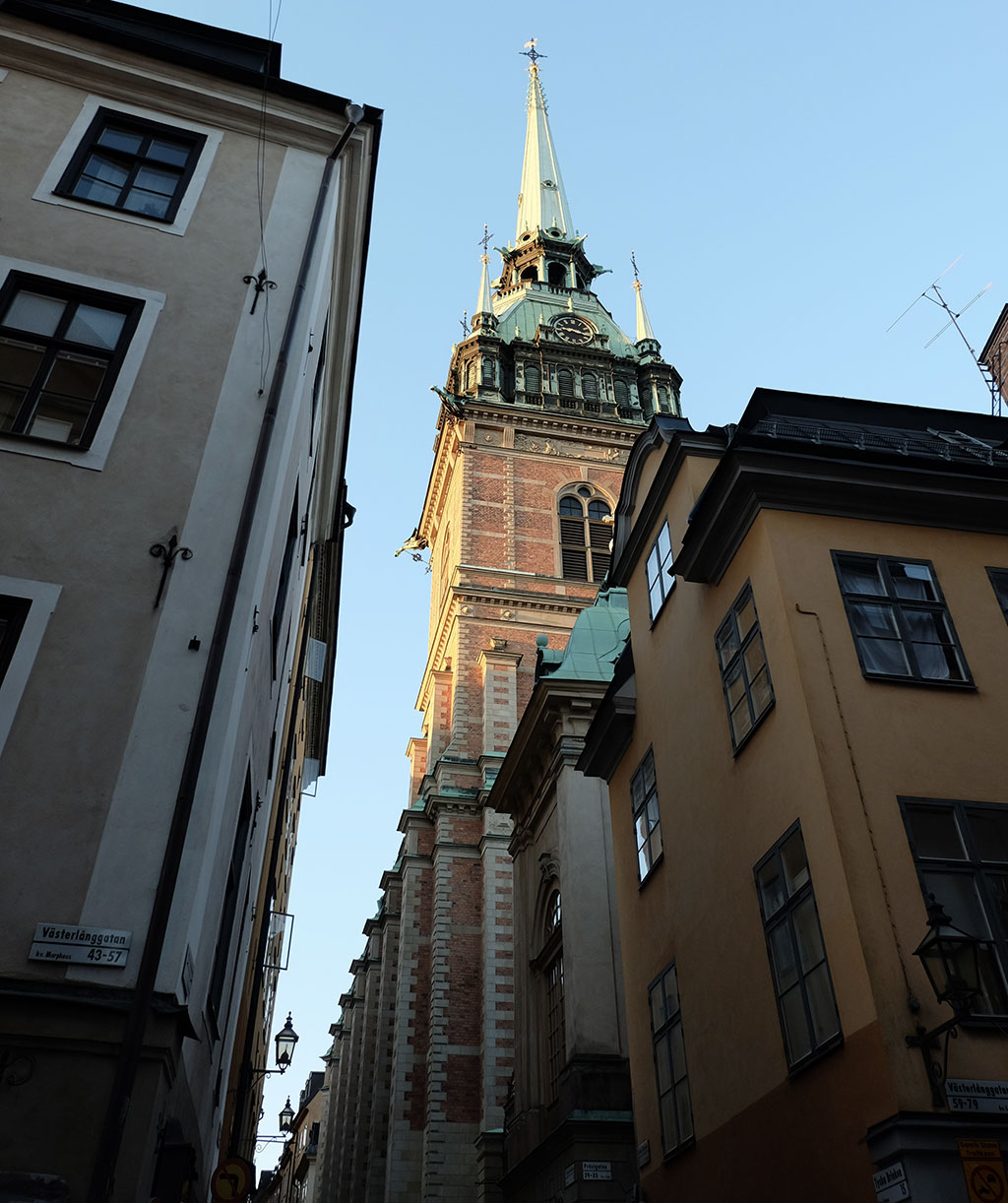 Stockholm old town on a summer's evening