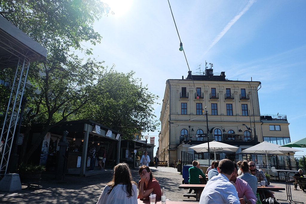 Craft beer and great views on the Södra Teatern's terrace