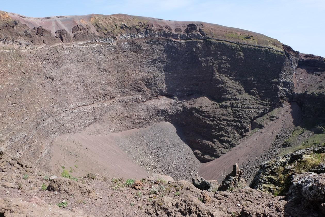 Vesuvius's crater