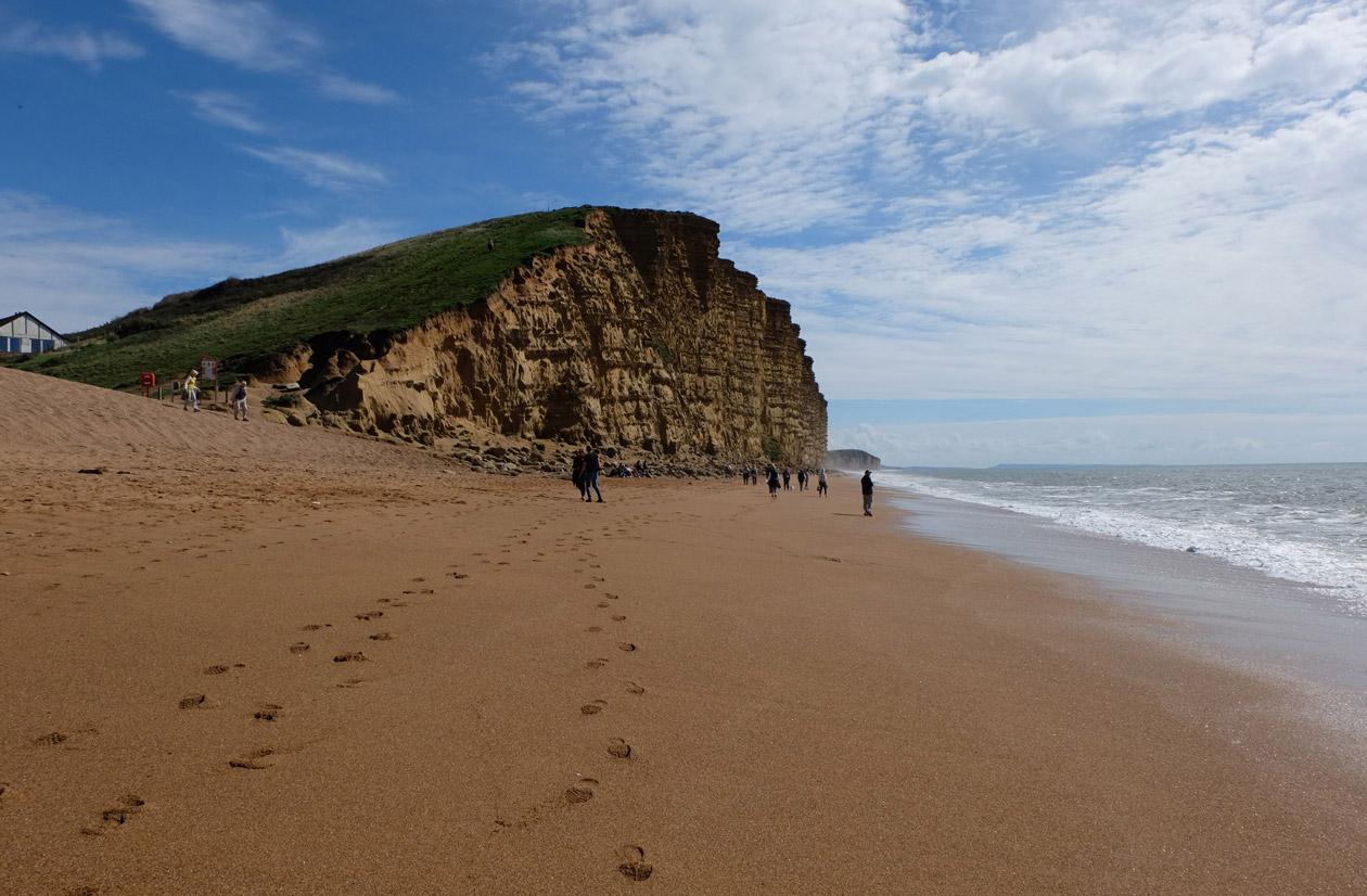 The cliff at West Bay
