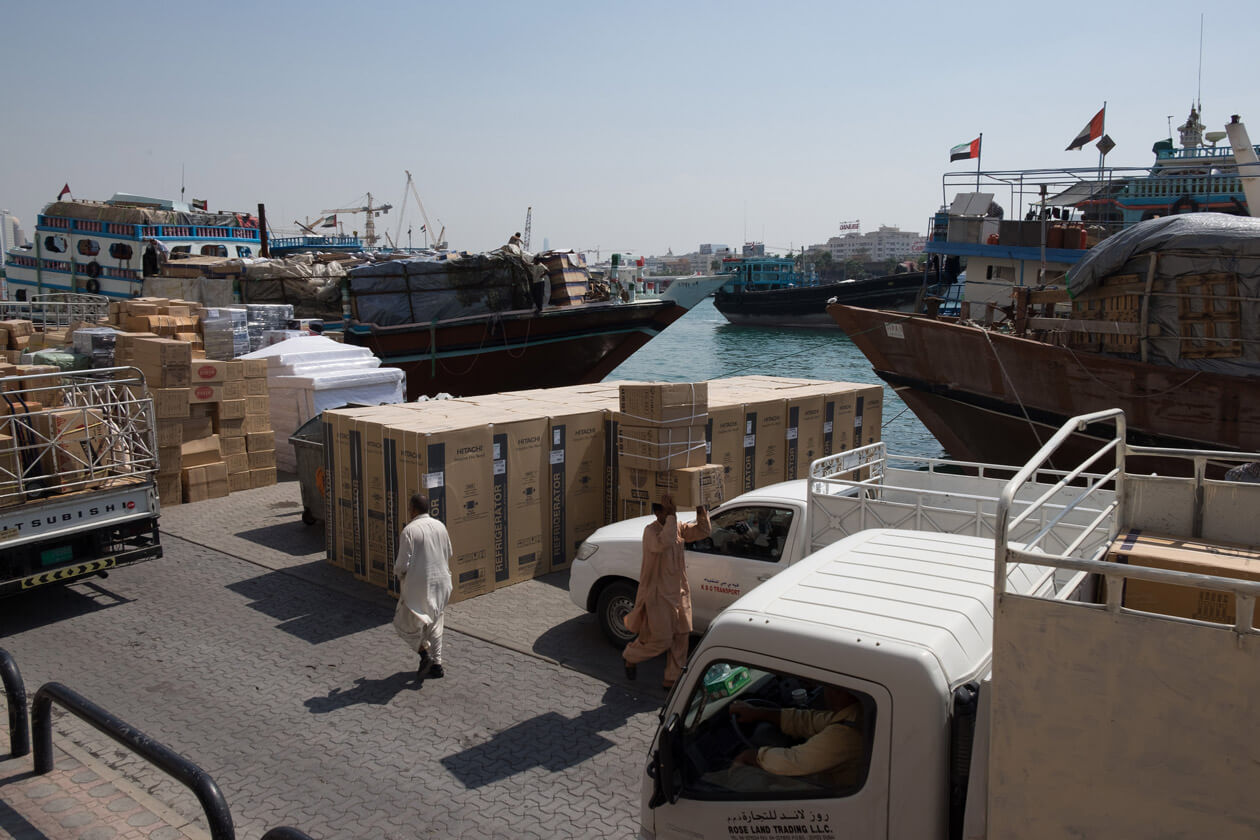 Dhows being loaded