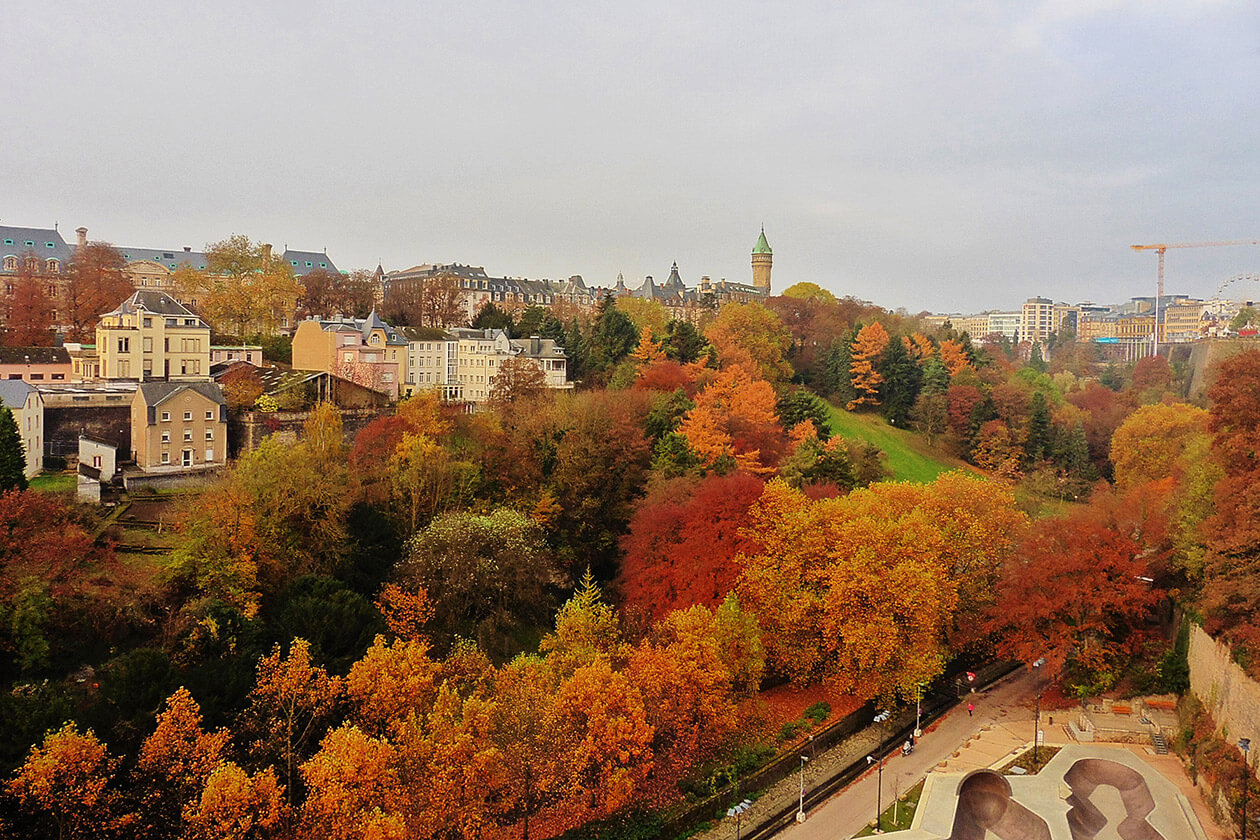 Luxembourg City in Autumn