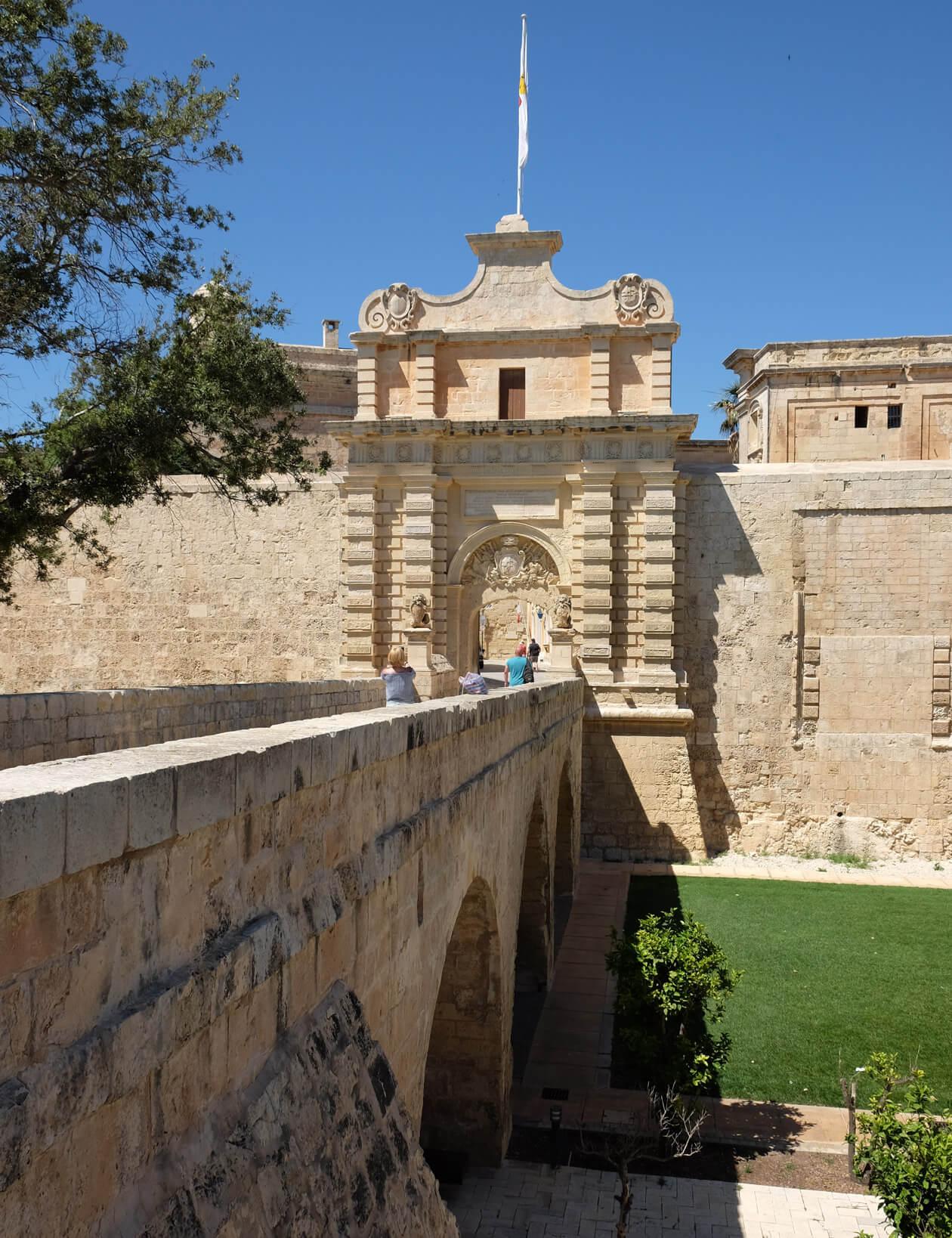 Mdina's main city gate
