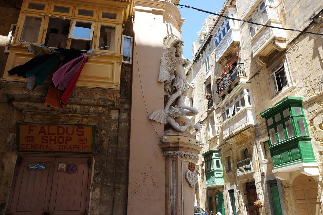 A street corner in Valletta