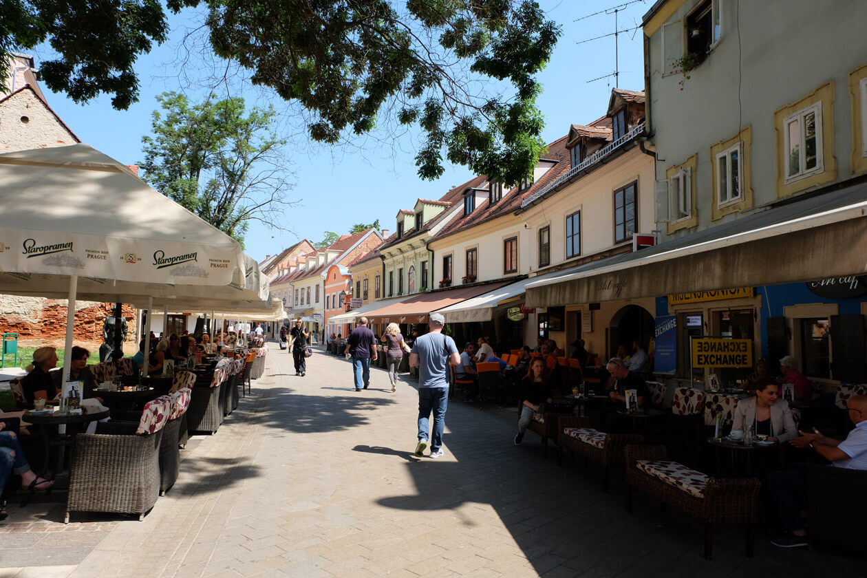 Tkalčićeva Street is full of cafes and interesting shops - the perfect place to people-watch
