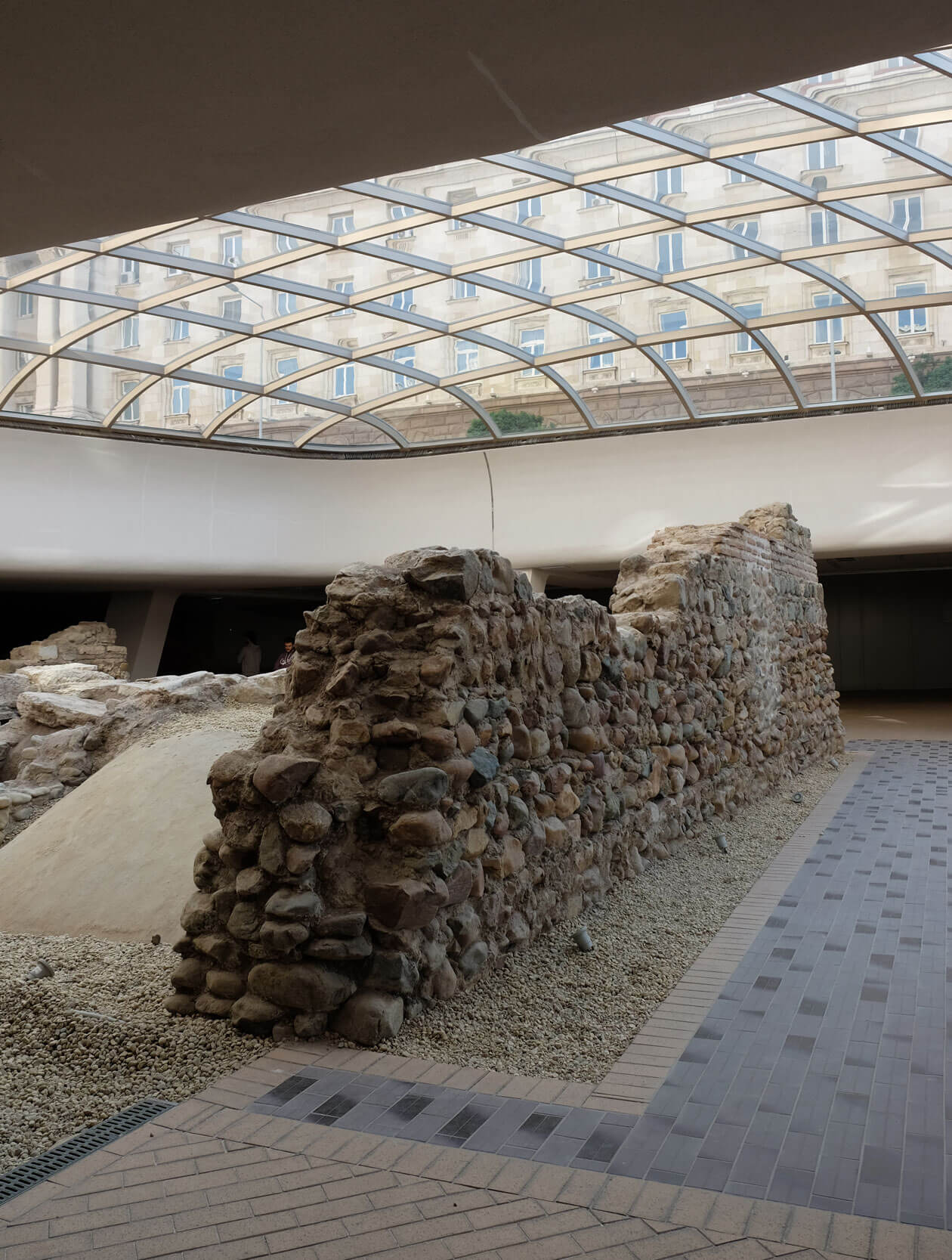 Ruins of the Roman town of Serdica in the metro station that bears its name