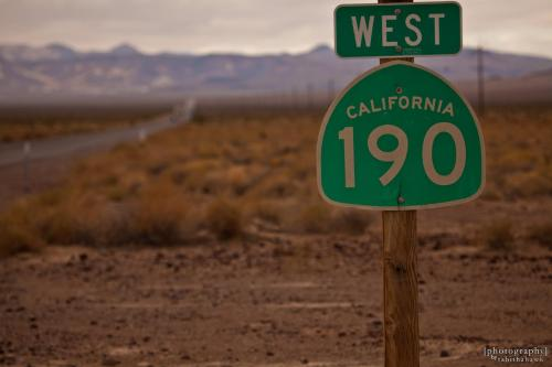 Go west, cyclist! Death Valley highway. Photo courtesy of Tabitha Kaylee Hawk, Flickr Creative Commons.