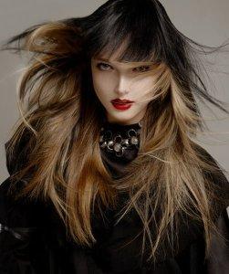 Black Wig Over Blonde Hair - 2012