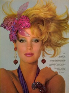 YSL Sequined Orchid In Sahag Hair – 1983