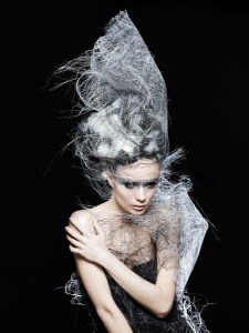 Avant-Garde Grey Hair Graphic Creation