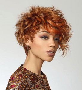 Short Sassy Hair Tumbled Reds Coppers – 2018