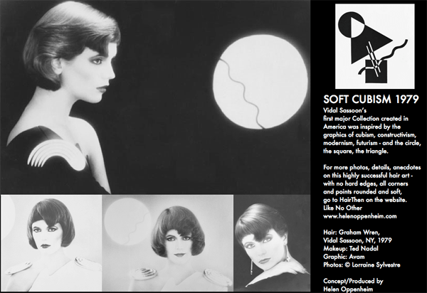 Vidal Sassoon Soft Cubism Hair - 1979