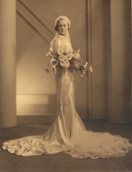 My Mother On Her Wedding Day - 1930s