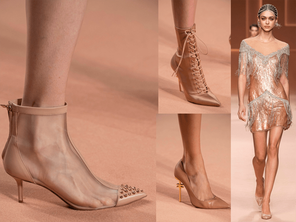 Nude Shoes Booties Flapper Dress – 2020