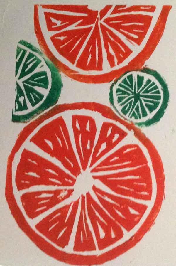 Linoprint Workshop Archives Helen Pakeman Monoprinting