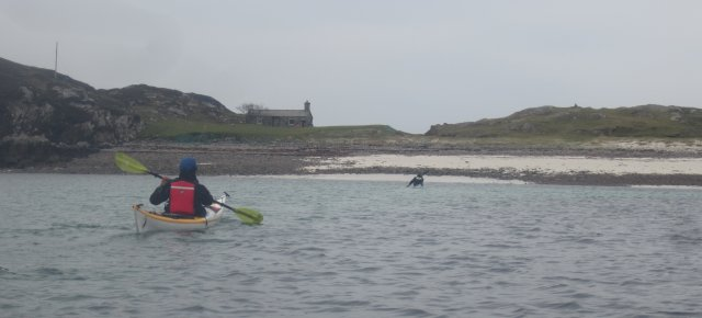 The beach and bothy on Oldany