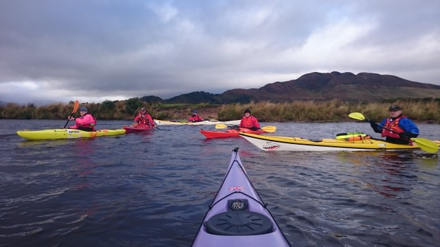 The Group on the river, with Conic Hill in background