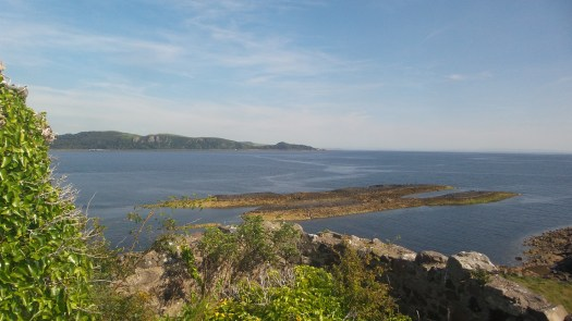 View from Wee Cumbrae castle towards Portencross