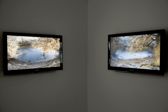 Pond : Video Installation, Two Monitors - Crescent Arts, Scarborough 2011