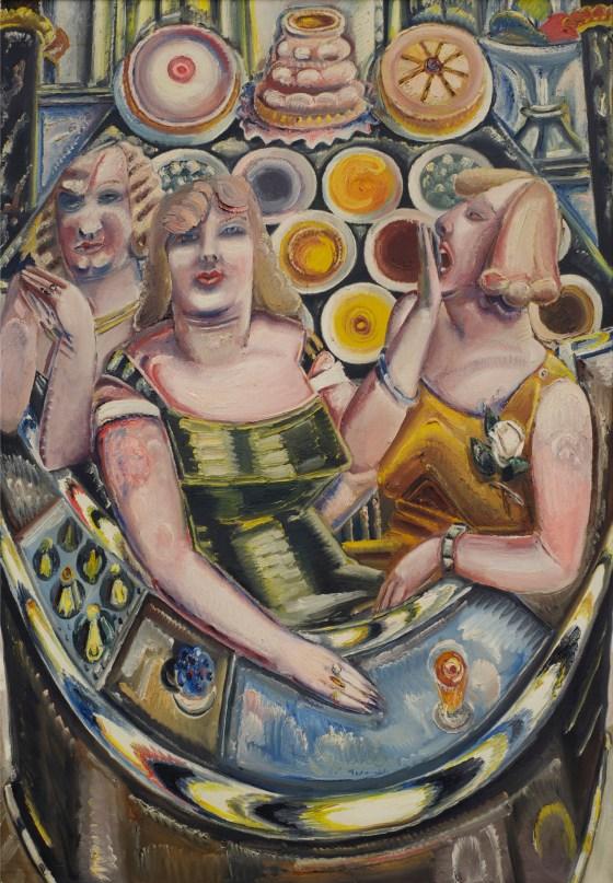 Kleinschmidt, Drei Frauen an der Kuchenbar