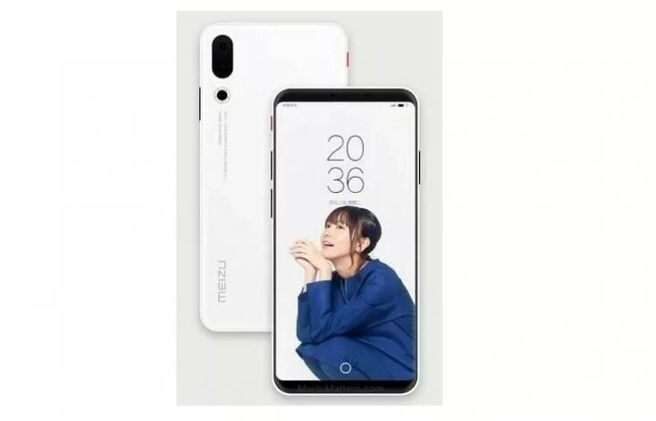 Meizuの新型フラッグシップ「Meizu 16」はディスプレイ内指紋センサを搭載するようです。