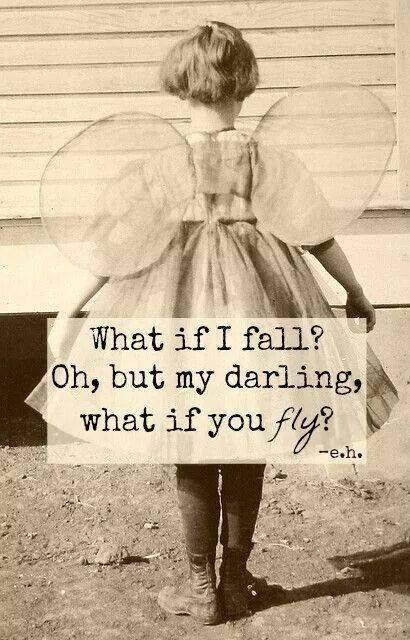 Tenk om jeg faller, åh min venn, tenk om du flyr.