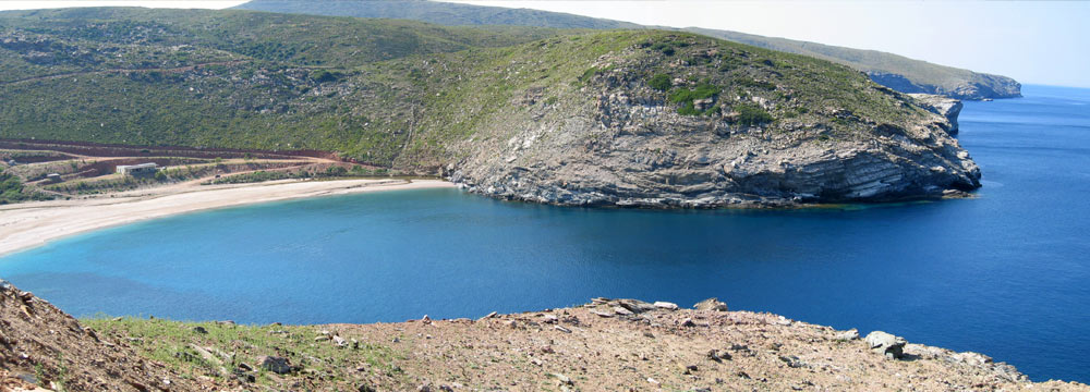 Zorkos beach Andros