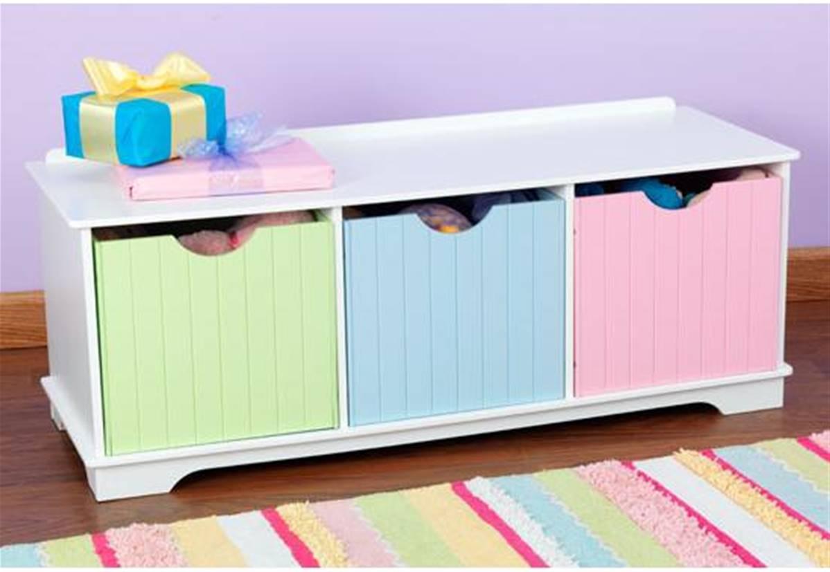 meuble banc avec bac de rangement pour jeux et jouets
