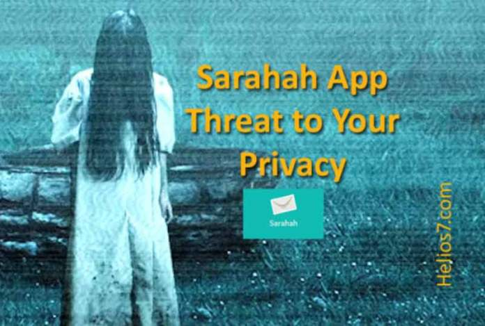 sarahah app security threat