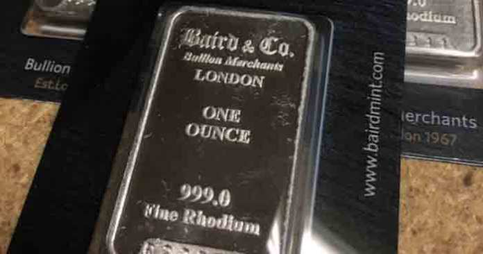 rhodium precious metal