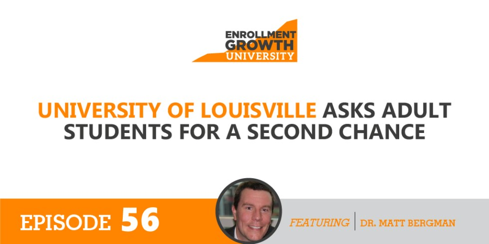University of Louisville asks Adult Students for a Second Chance